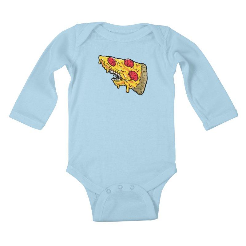 Pizza Shark Kids Baby Longsleeve Bodysuit by Anthony Petrie Print + Product Design