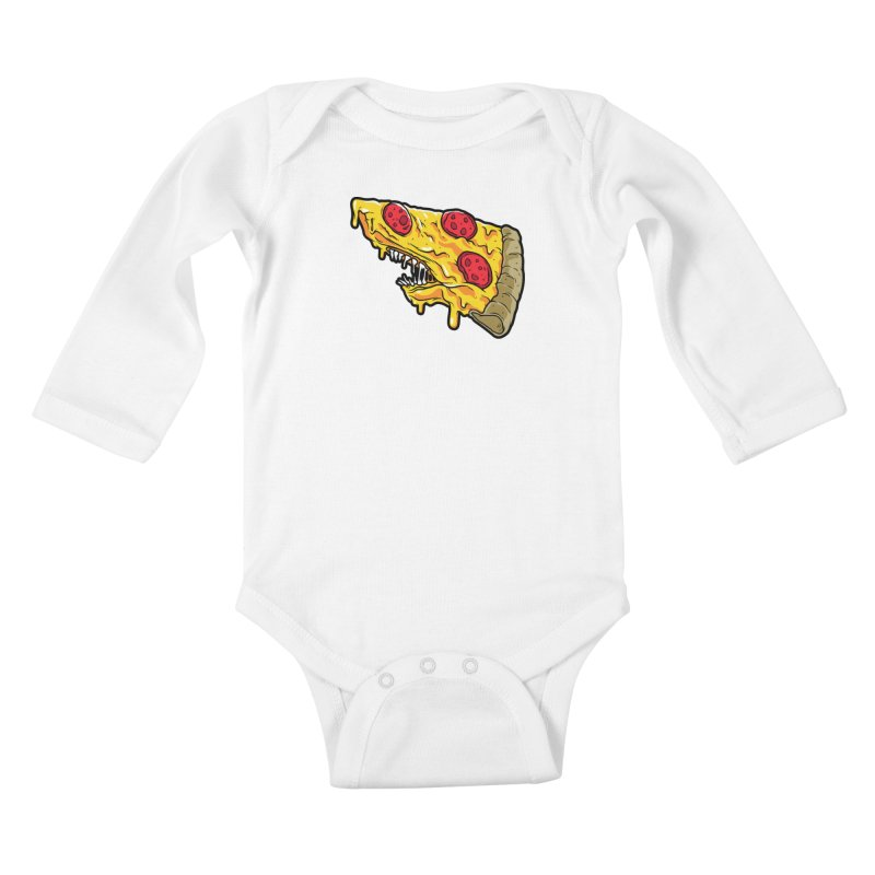 Pizza Shark Kids Baby Longsleeve Bodysuit by Anthony Petrie
