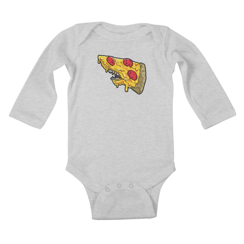 Pizza Shark Kids Baby Longsleeve Bodysuit by Anthony Petrie Print + Product Design
