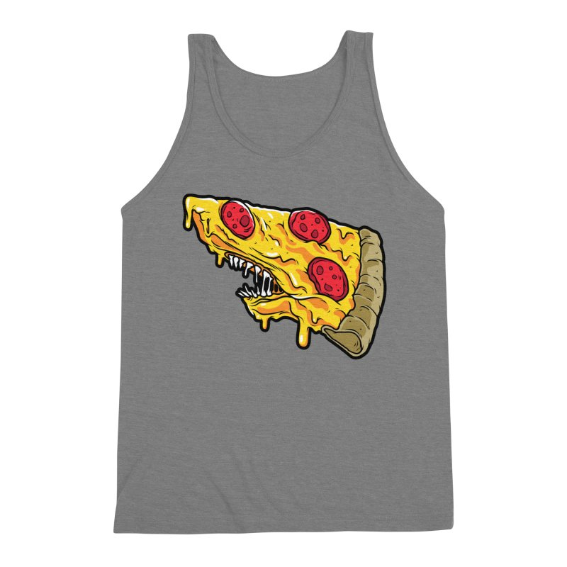 Pizza Shark Men's Triblend Tank by Anthony Petrie Print + Product Design