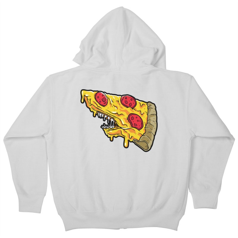 Pizza Shark Kids Zip-Up Hoody by Anthony Petrie Print + Product Design