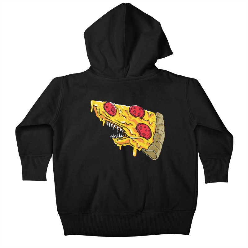 Pizza Shark Kids Baby Zip-Up Hoody by Anthony Petrie Print + Product Design