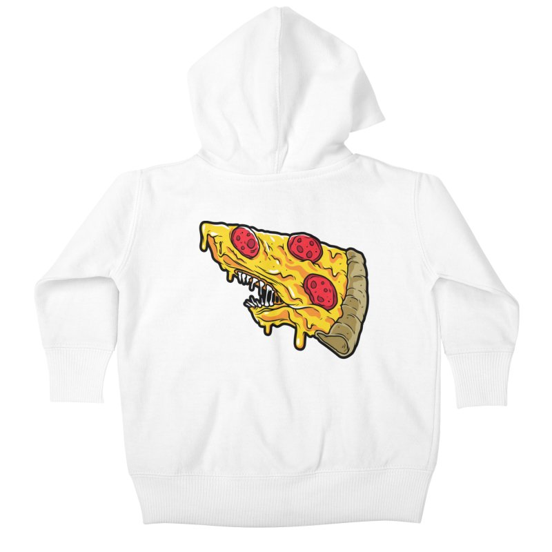 Pizza Shark Kids Baby Zip-Up Hoody by Anthony Petrie