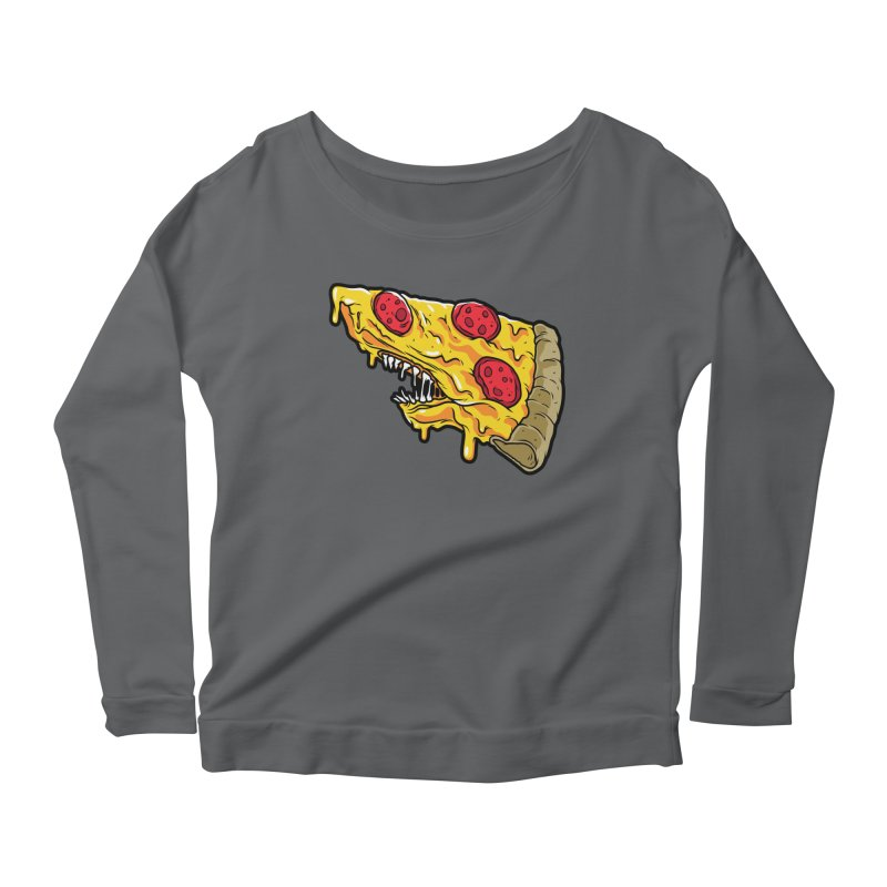 Pizza Shark Women's Scoop Neck Longsleeve T-Shirt by Anthony Petrie Print + Product Design
