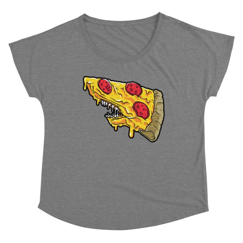 Feast Beasts - Pizza Shark Women's Scoop Neck by Anthony Petrie Print + Product Design