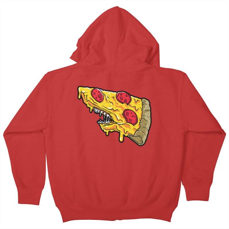 Pizza Shark Kids Zip-Up Hoody by Anthony Petrie