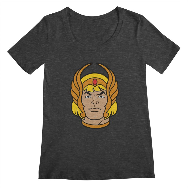 He-Ra Women's Scoopneck by Anthony Petrie Print + Product Design