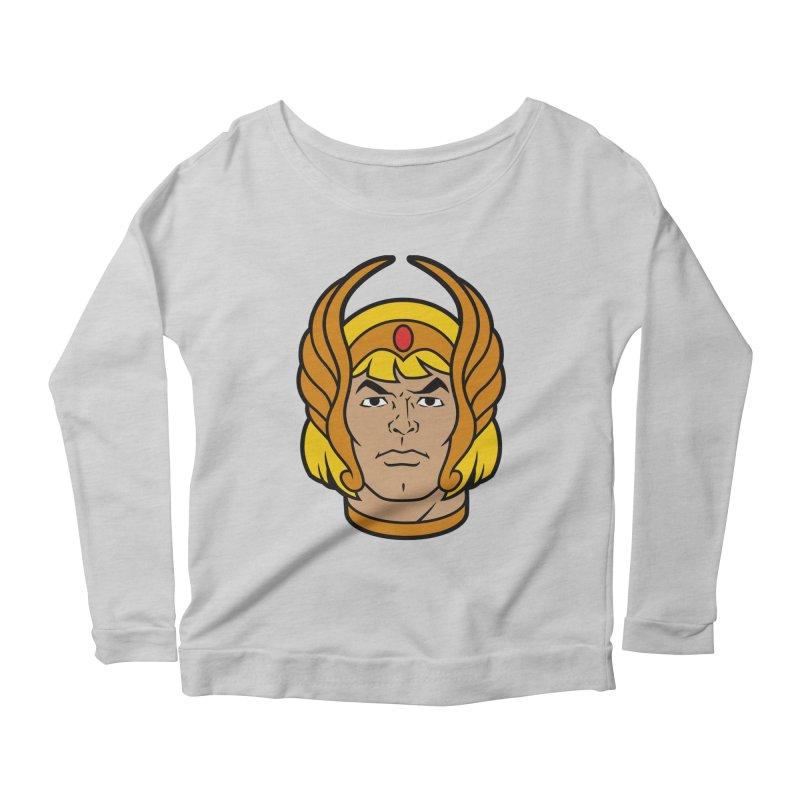 He-Ra Women's Longsleeve Scoopneck  by Anthony Petrie Print + Product Design