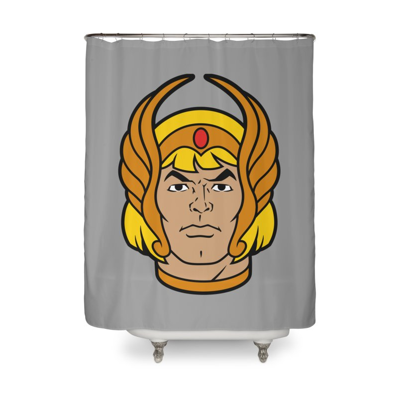 He-Ra Home Shower Curtain by Anthony Petrie