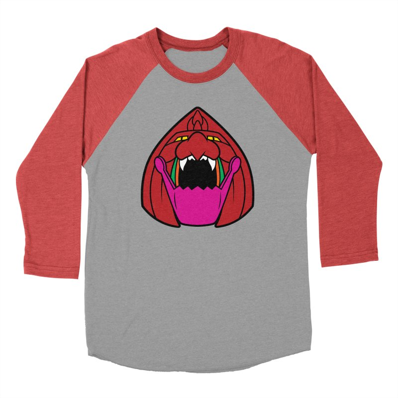 Jaw Cat Men's Baseball Triblend T-Shirt by Anthony Petrie