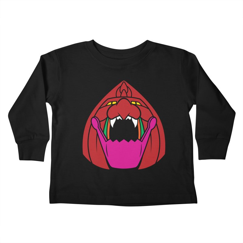 Jaw Cat Kids Toddler Longsleeve T-Shirt by Anthony Petrie Print + Product Design