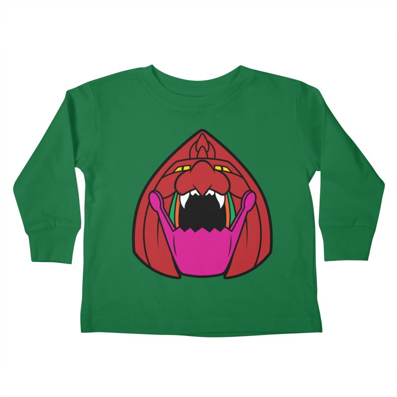 Jaw Cat Kids Toddler Longsleeve T-Shirt by Anthony Petrie