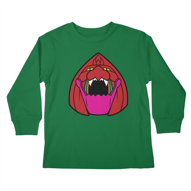 Jaw Cat Kids Longsleeve T-Shirt by Anthony Petrie Print + Product Design