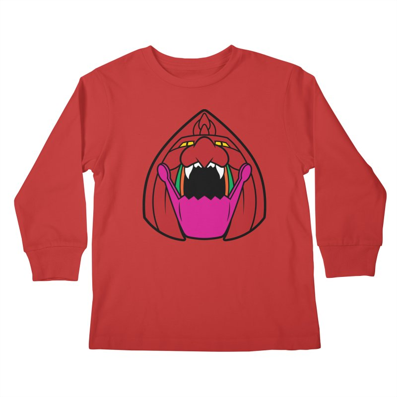 Jaw Cat Kids Longsleeve T-Shirt by Anthony Petrie