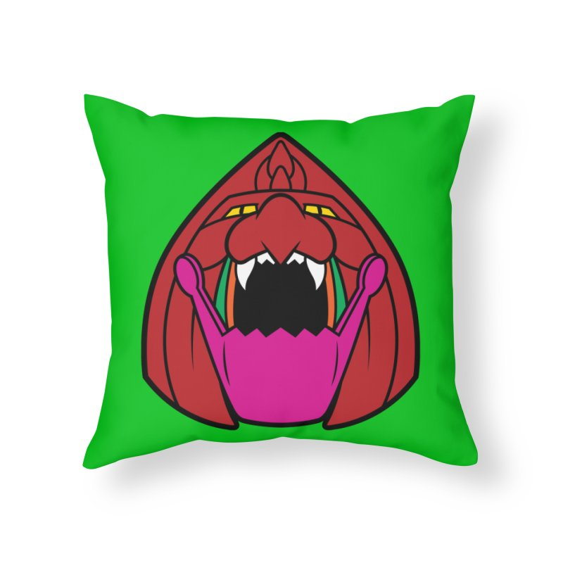 Jaw Cat Home Throw Pillow by Anthony Petrie Print + Product Design