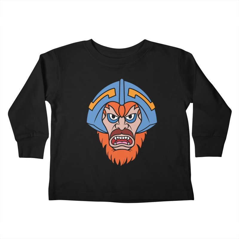 Beast Man-At-Arms Kids Toddler Longsleeve T-Shirt by Anthony Petrie Print + Product Design