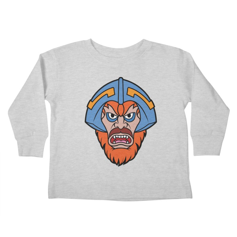 Beast Man-At-Arms Kids Toddler Longsleeve T-Shirt by Anthony Petrie
