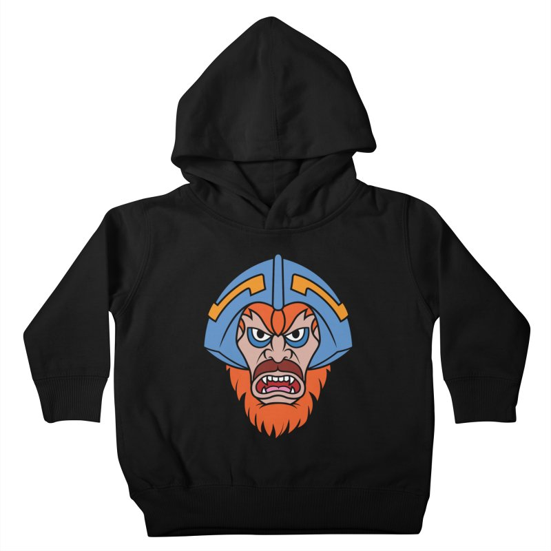 Beast Man-At-Arms Kids Toddler Pullover Hoody by Anthony Petrie