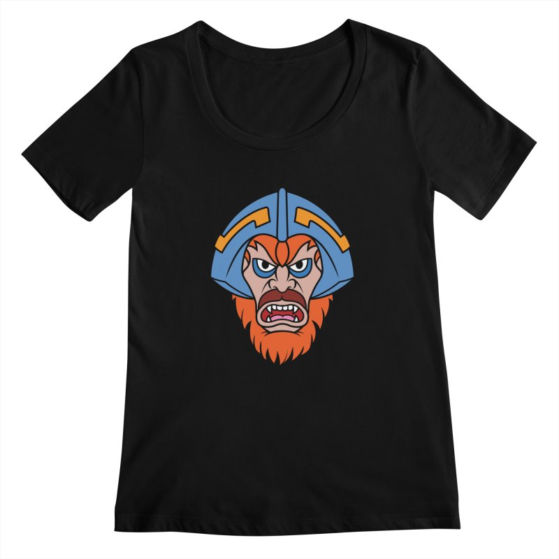 Beast Man-At-Arms Women's Scoopneck by Anthony Petrie