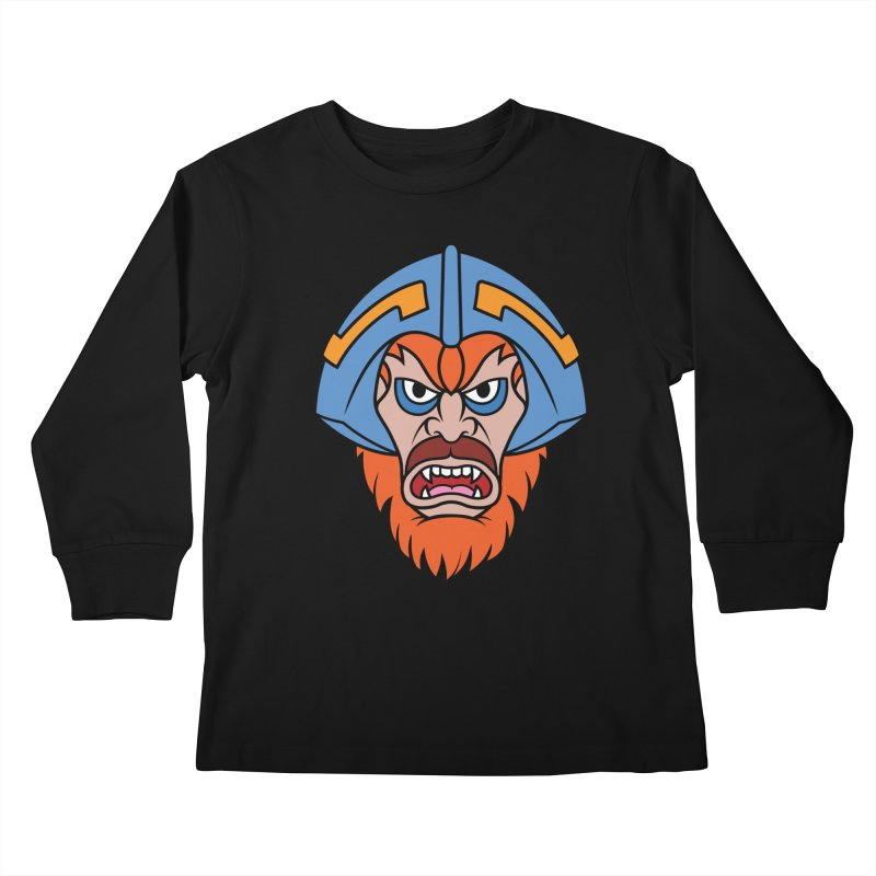 Beast Man-At-Arms Kids Longsleeve T-Shirt by Anthony Petrie