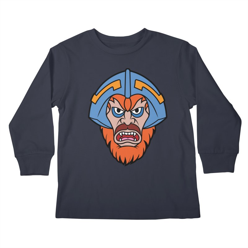 Beast Man-At-Arms Kids Longsleeve T-Shirt by Anthony Petrie Print + Product Design