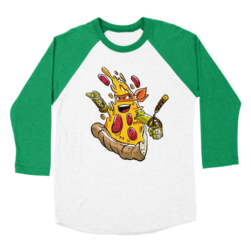 Pizzalangelo Women's Baseball Triblend Longsleeve T-Shirt by Anthony Petrie Print + Product Design