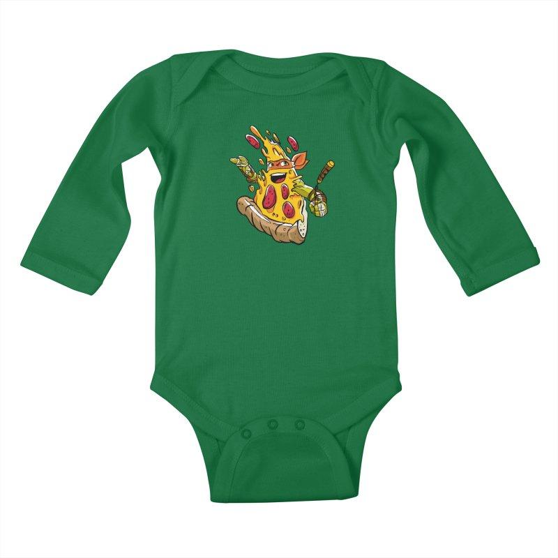 Pizzalangelo Kids Baby Longsleeve Bodysuit by Anthony Petrie