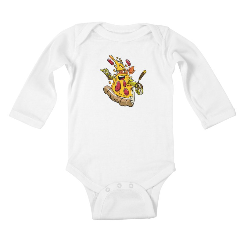 Pizzalangelo Kids Baby Longsleeve Bodysuit by Anthony Petrie Print + Product Design