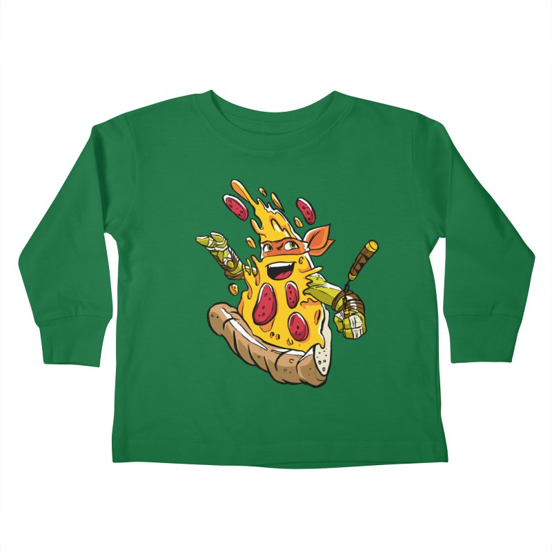 Pizzalangelo Kids Toddler Longsleeve T-Shirt by Anthony Petrie Print + Product Design