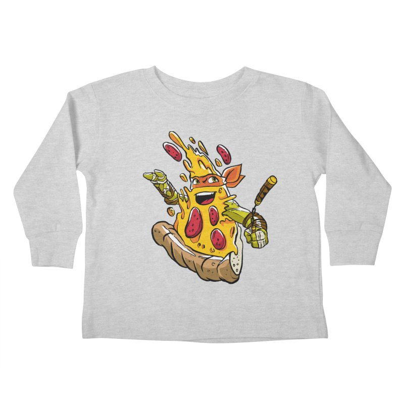 Pizzalangelo Kids Toddler Longsleeve T-Shirt by Anthony Petrie