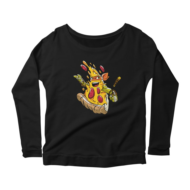 Pizzalangelo Women's Scoop Neck Longsleeve T-Shirt by Anthony Petrie Print + Product Design
