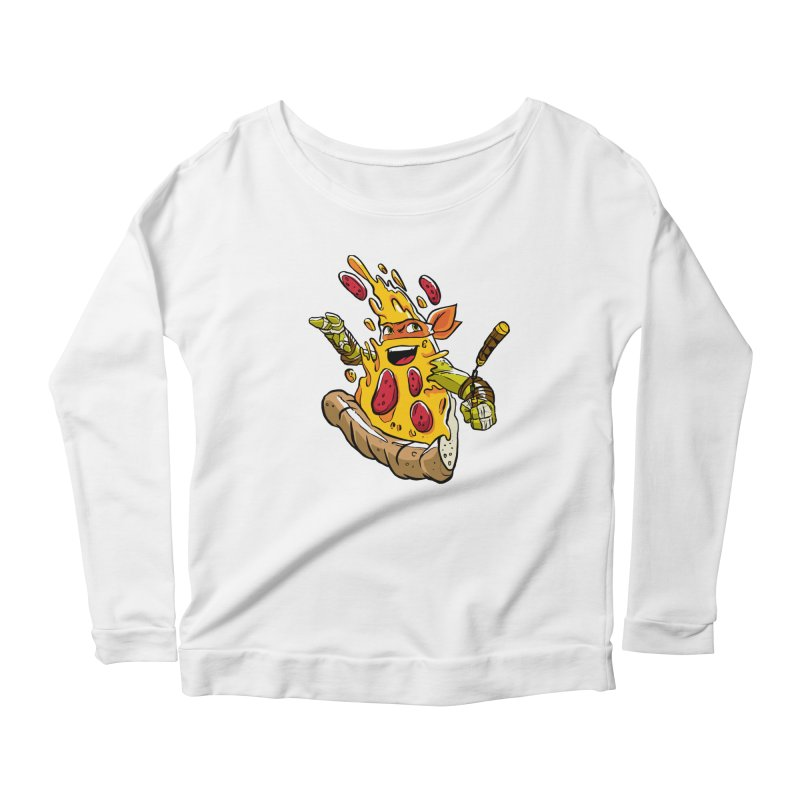 Pizzalangelo Women's Longsleeve Scoopneck  by Anthony Petrie Print + Product Design