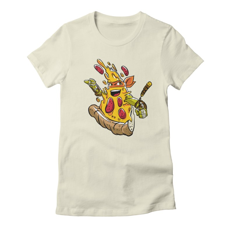Pizzalangelo Women's Fitted T-Shirt by Anthony Petrie Print + Product Design