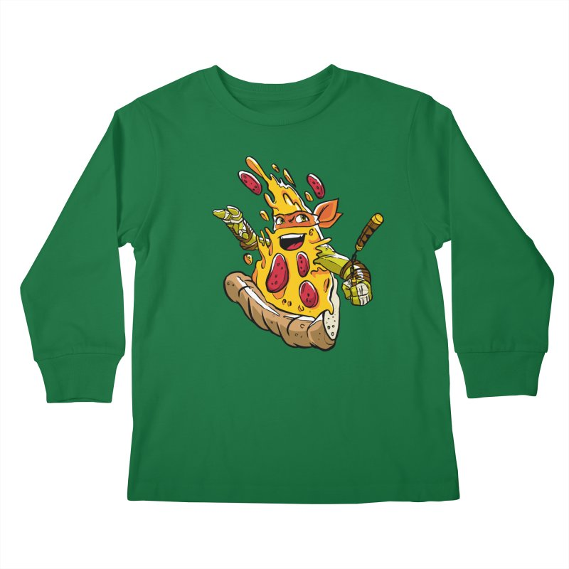 Pizzalangelo Kids Longsleeve T-Shirt by Anthony Petrie