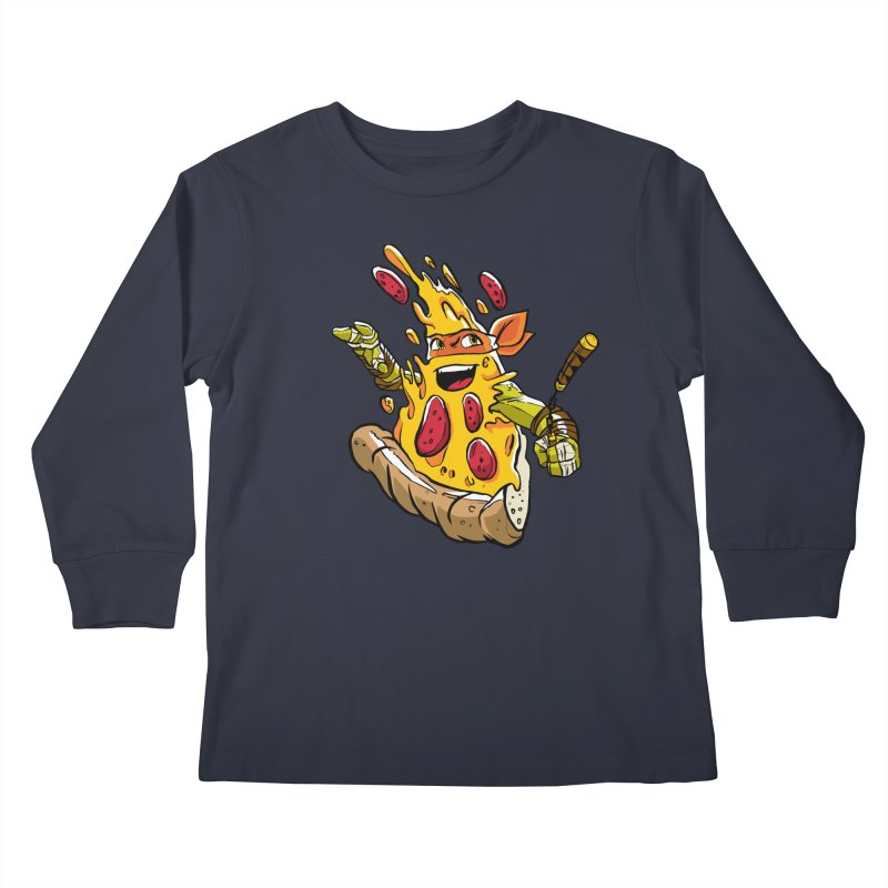 Pizzalangelo Kids Longsleeve T-Shirt by Anthony Petrie Print + Product Design