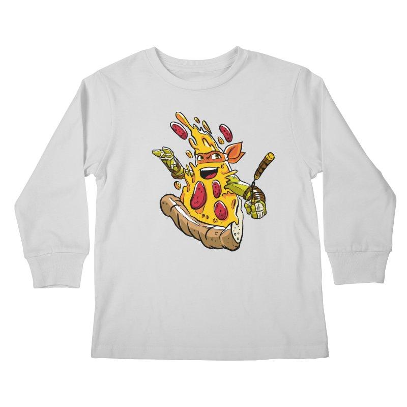 Pizzalangelo Kids Longsleeve T-Shirt by Anthony Petrie