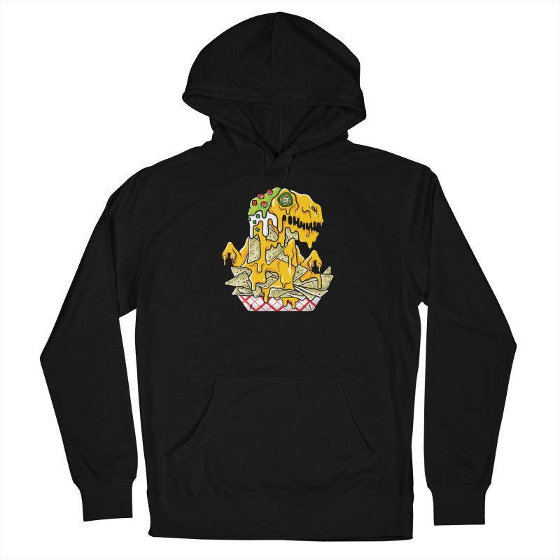 Nachosaurus Men's French Terry Pullover Hoody by Anthony Petrie Print + Product Design