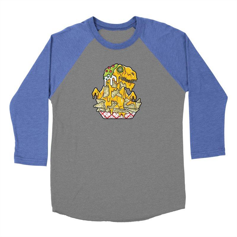 Nachosaurus Men's Baseball Triblend Longsleeve T-Shirt by Anthony Petrie Print + Product Design