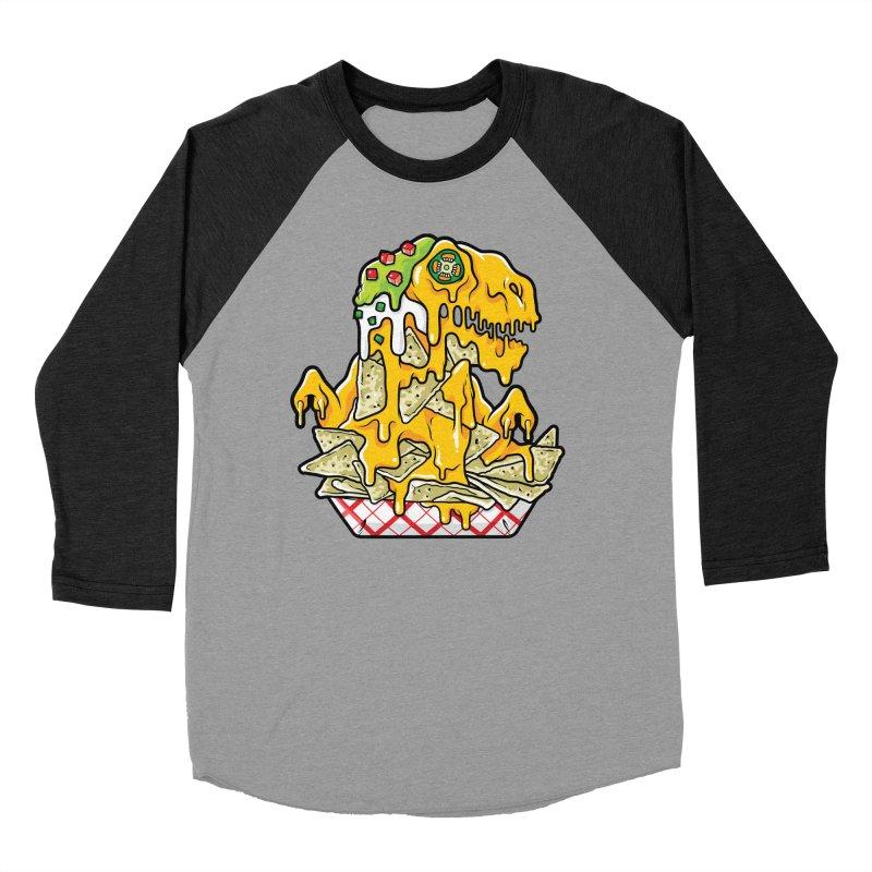 Nachosaurus Women's Baseball Triblend Longsleeve T-Shirt by Anthony Petrie Print + Product Design