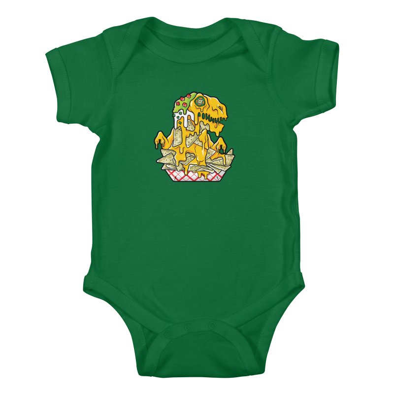 Feast Beasts - Nachosaurus Kids Baby Bodysuit by Anthony Petrie Print + Product Design