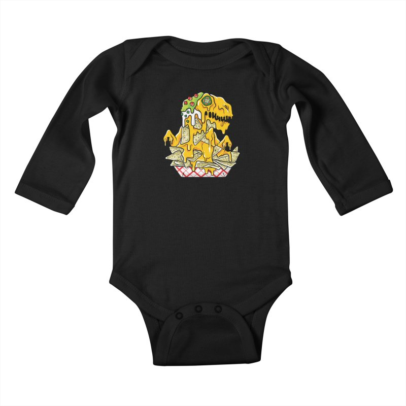 Nachosaurus Kids Baby Longsleeve Bodysuit by Anthony Petrie Print + Product Design
