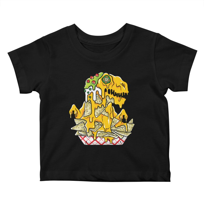 Nachosaurus Kids Baby T-Shirt by Anthony Petrie Print + Product Design