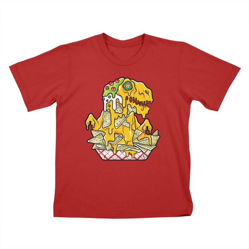 Nachosaurus Kids T-shirt by Anthony Petrie