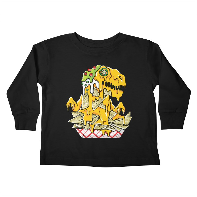 Nachosaurus Kids Toddler Longsleeve T-Shirt by Anthony Petrie