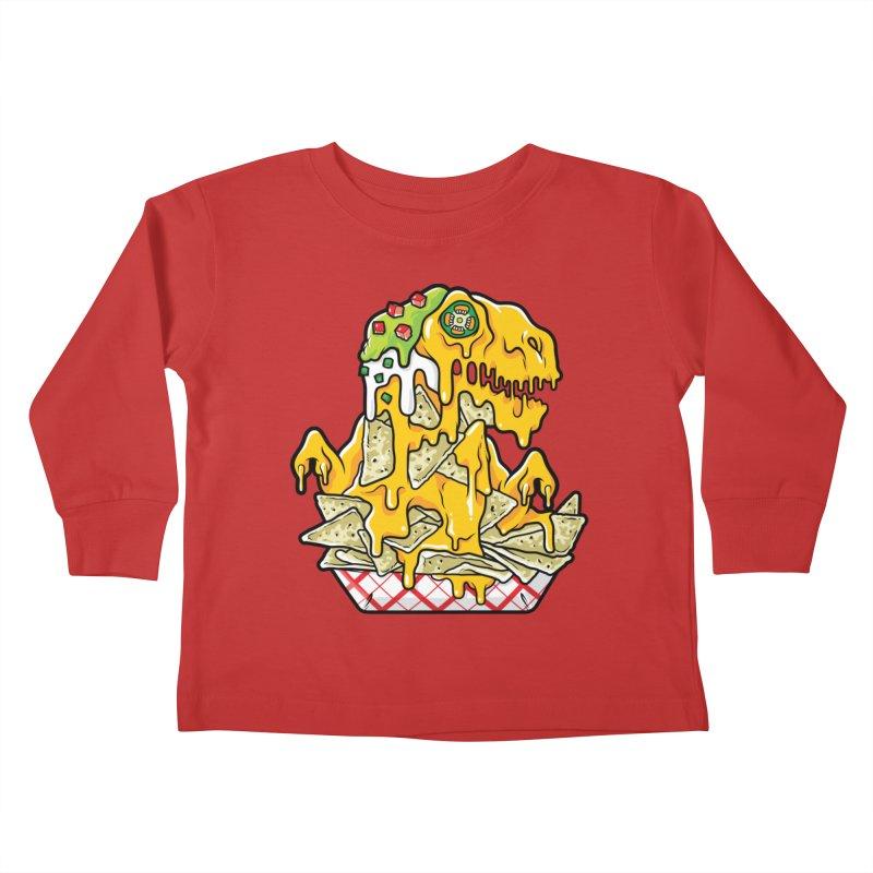 Nachosaurus Kids Toddler Longsleeve T-Shirt by Anthony Petrie