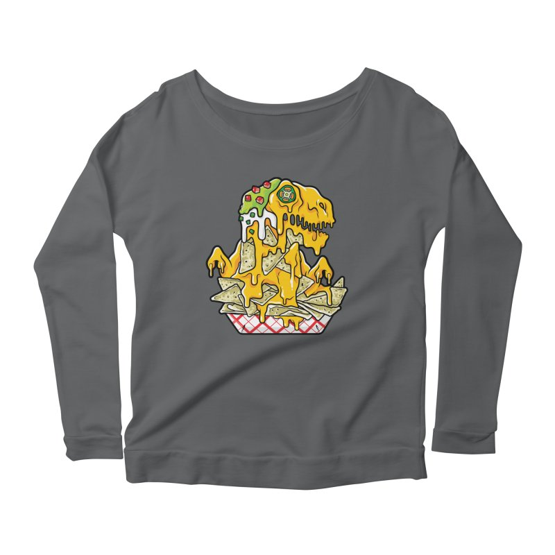Feast Beasts - Nachosaurus Women's Longsleeve T-Shirt by Anthony Petrie Print + Product Design