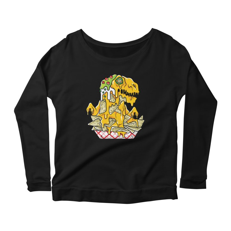Nachosaurus Women's Longsleeve Scoopneck  by Anthony Petrie