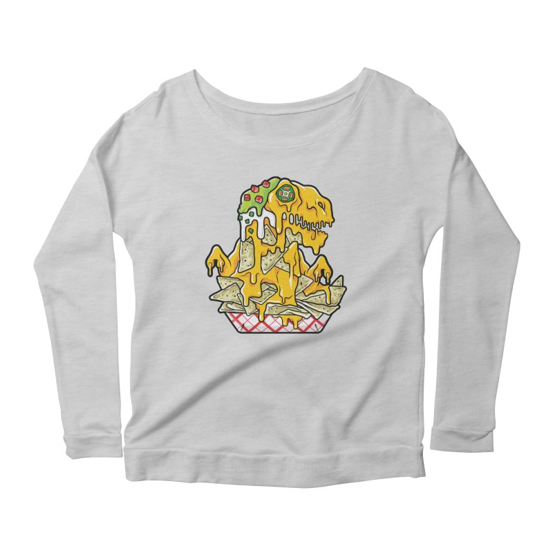 Nachosaurus Women's Longsleeve Scoopneck  by Anthony Petrie Print + Product Design