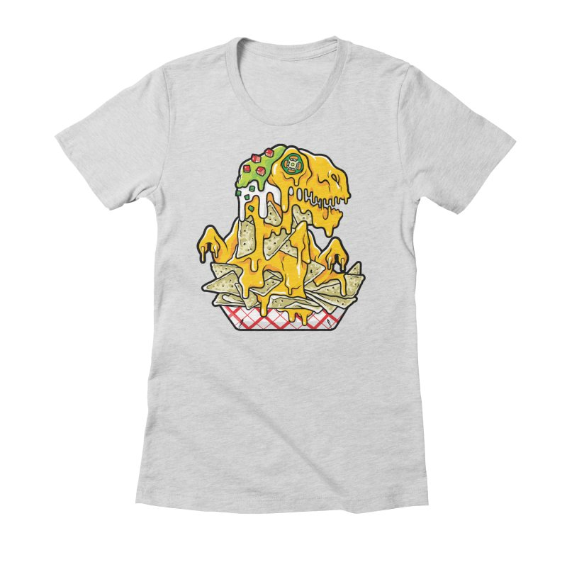 Nachosaurus Women's Fitted T-Shirt by Anthony Petrie Print + Product Design