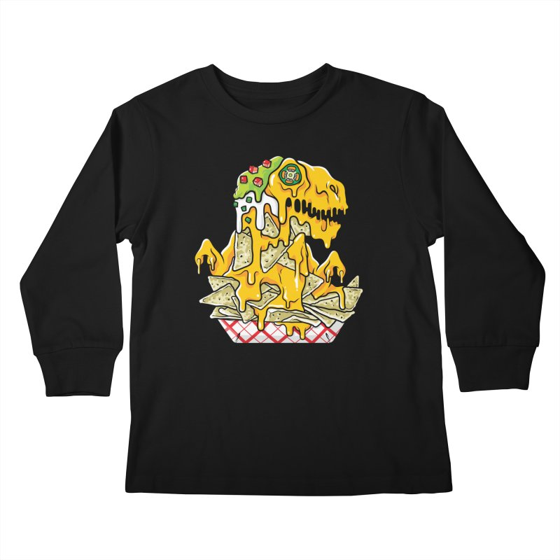 Feast Beasts - Nachosaurus Kids Longsleeve T-Shirt by Anthony Petrie Print + Product Design
